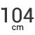 104 cm