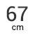 67 cm