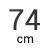 74 cm