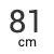 81 cm