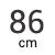 86 cm